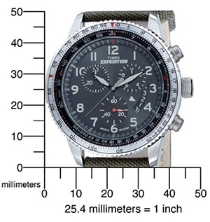 Timex Expedition Military Chrono T49823_dimension
