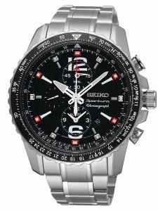 Orologio-Seiko-Sportura-Chronograph-Pilot-Allarm-Acciaio